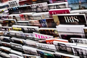 selection of literary magazines