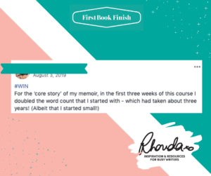 First Book Finish Success Stories